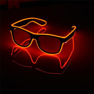 LED Luminous Party Sunglasses Sunglasses Loom Rack Red