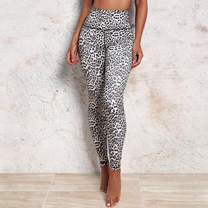 Leopard Print High Waisted Leggings Leggings Loom Rack