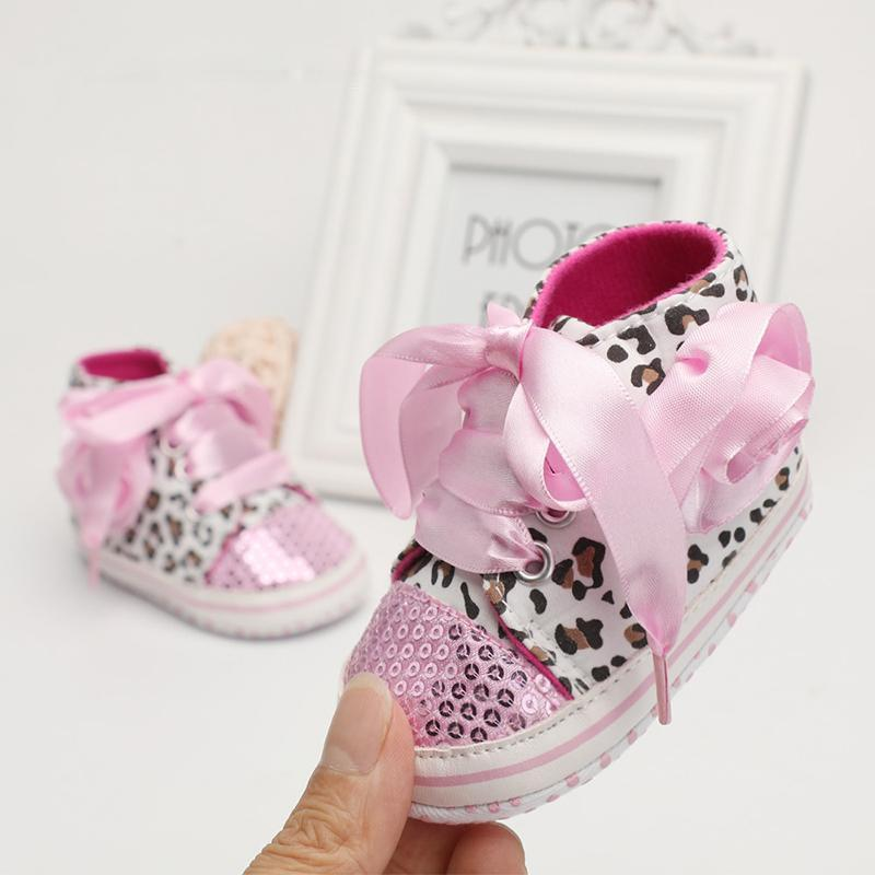 Leopard Sequin Infant Girl Shoes Baby Shoes Loom Rack