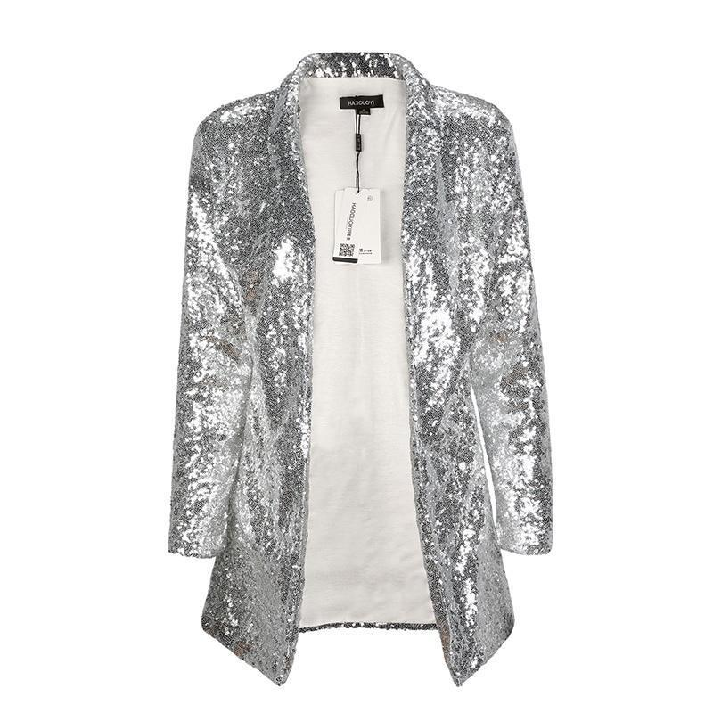 Long Sleeve Sequin Blazer Jackets Loom Rack