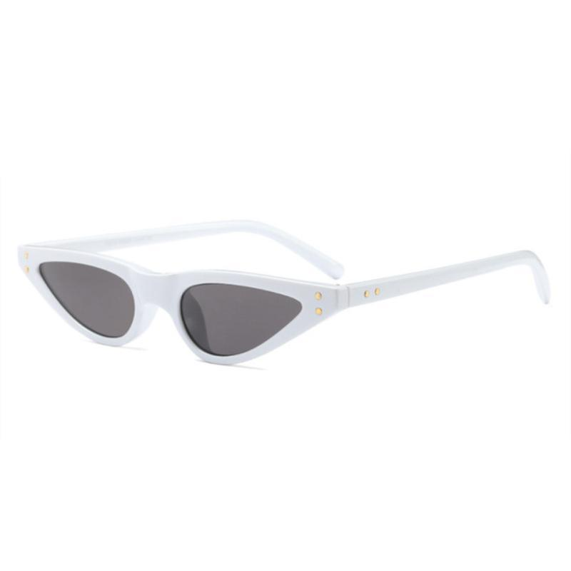loomrack 90s Small Pointy Sunglasses Sunglasses White