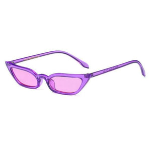 loomrack 90s Small Rectangular Pointy Sunglasses Sunglasses Pruple