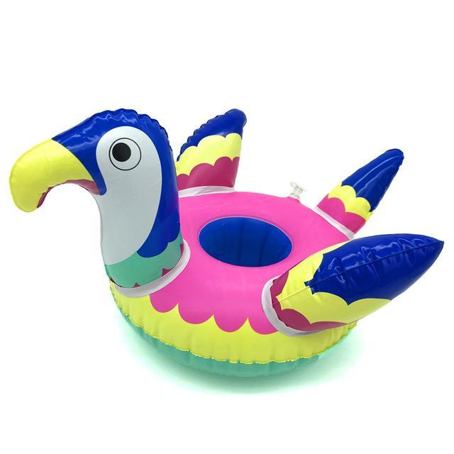 loomrack Assorted Floating Coasters Swimming Rings Parrot