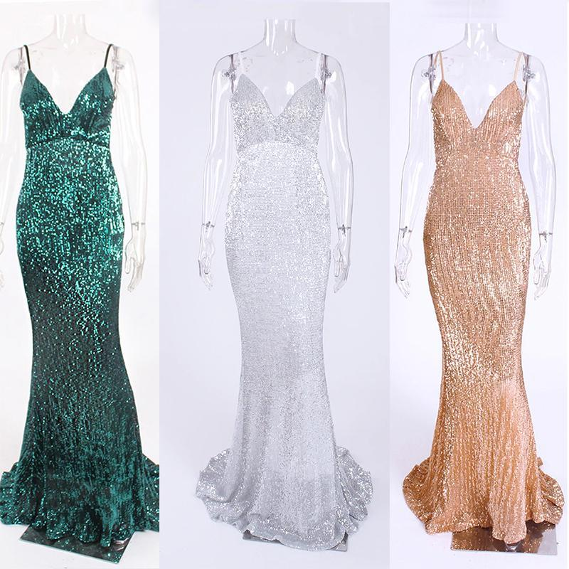 loomrack Backless Long Sequin Gown Girl's Dresses