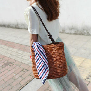loomrack Bamboo Knitted Shoulder Bag Shoulder Bag