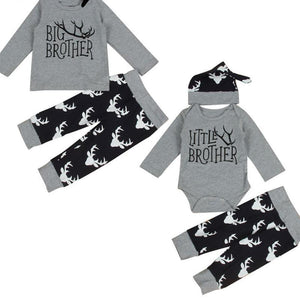 loomrack Big Brother Little Brother Matching Outfit - Deer Antlers Matching Outfits