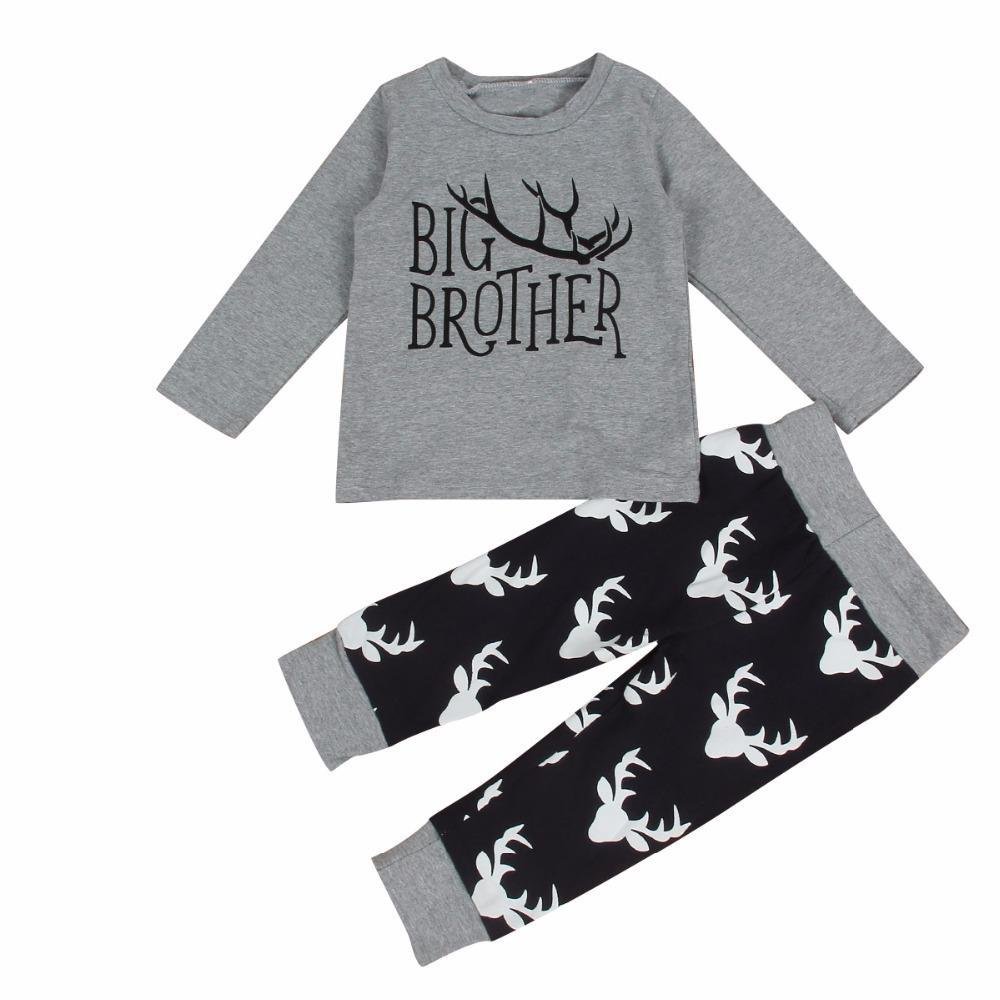 loomrack Big Brother Little Brother Matching Outfit - Deer Antlers Matching Outfits BIG BROTHER 1Y