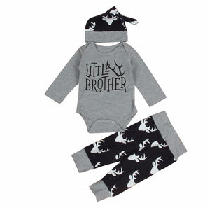 loomrack Big Brother Little Brother Matching Outfit - Deer Antlers Matching Outfits LITTLE BROTHER 6M