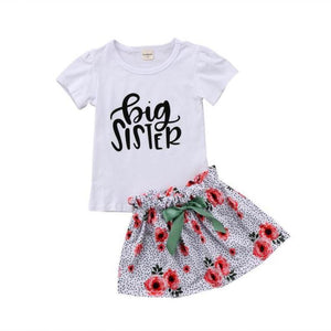 loomrack Big Sister Little Sister Matching Outfit - Floral Speckle Matching Outfits Big 2 to 3Y