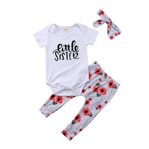 loomrack Big Sister Little Sister Matching Outfit - Floral Speckle Matching Outfits Little 0 to 6M