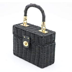loomrack Black Rattan Purse Shoulder Bags