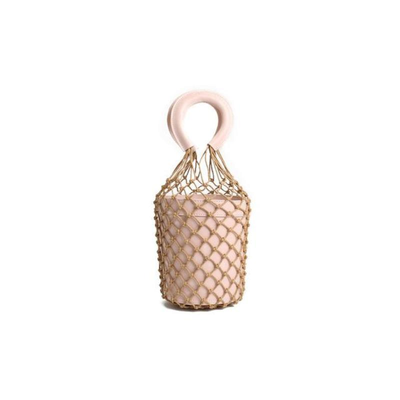 loomrack Bohemian Bucket Bag Top-Handle Bags Pink
