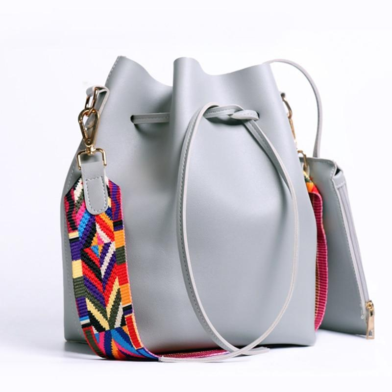 loomrack Boho Bucket Bag with Multicolor Shoulder Strap Shoulder Bags