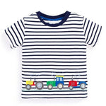 loomrack Boys 100% Cotton Summer T-Shirt  (Sizes 18M - 2T) T-Shirts Tractor Pattern / 2T