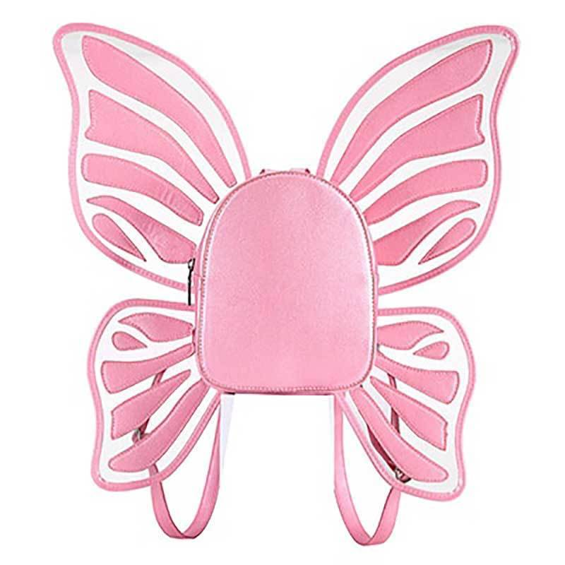loomrack Butterfly Wings Backpack Cross Body Bags Pink