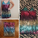 loomrack Cami Multicolor Sequin Party Mini Dress Girl's Dresses
