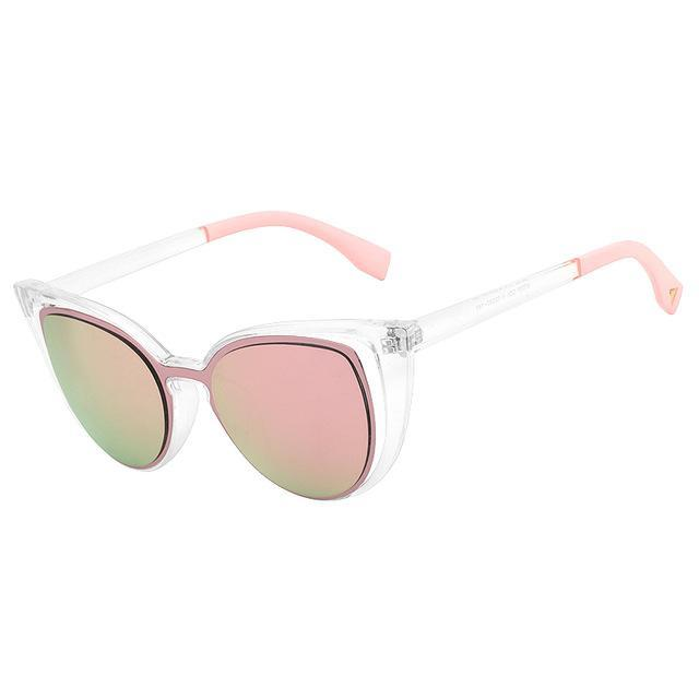 loomrack Chic Hollow Cat Eye Sunglasses Sunglasses Clear Pink