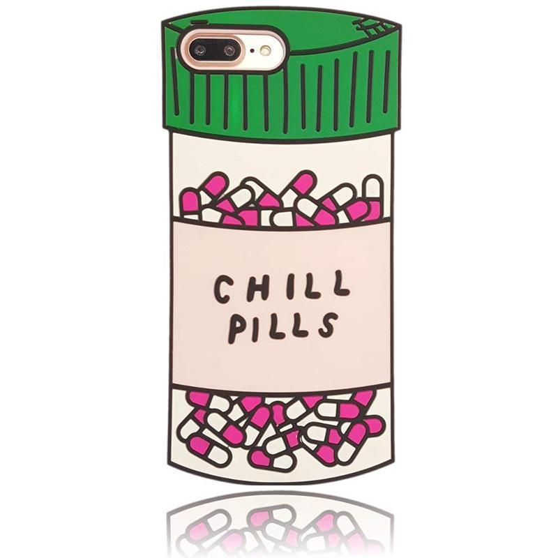 loomrack Chill Pill iPhone Case - For iPhone X / SE / 5C / 5S / 6 / 6 Plus / 6S / 7 / 8 Plus Phone Cases