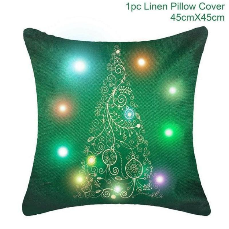 loomrack Christmas Cushion Covers Christmas Accessories Green Christmas Tree