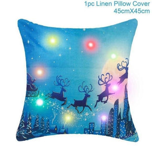 loomrack Christmas Cushion Covers Christmas Accessories Light Blue Deer