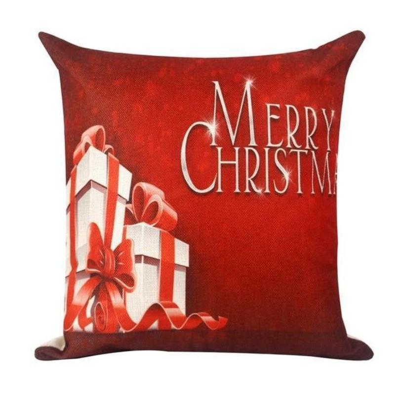 loomrack Christmas Cushion Covers Christmas Accessories Red gift box