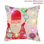 loomrack Christmas Cushion Covers Christmas Accessories Red Santa Claus