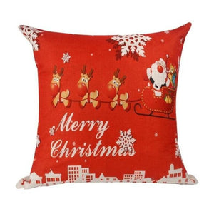 loomrack Christmas Cushion Covers Christmas Accessories Santa Claus driving