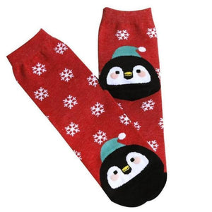 loomrack Christmas Santa Bunny Socks Christmas Socks Red
