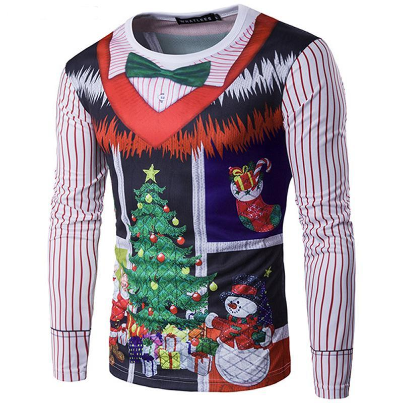 loomrack Christmas Ugly Sweater Long Sleeve Muscle T- Shirt - Sweater Vest Christmas Ugly Sweaters Sweater Vest / S