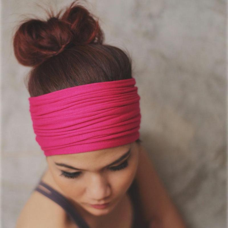 loomrack Chunky Monkey Head Wraps Hair Accessories Rose Pink