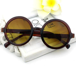 loomrack Classic Round Frame Sunglasses Sunglasses Brown