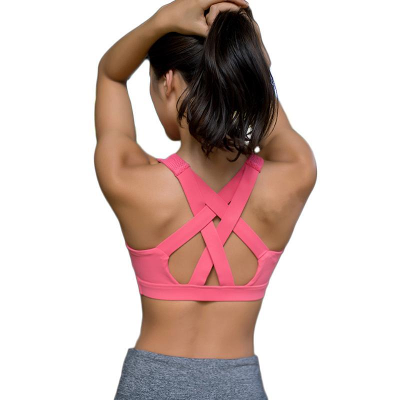loomrack Criss Cross Back High Intensity Sports Bra Yoga Shirts