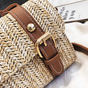 loomrack Crossbody Braided Straw Messenger Bag Top-Handle Bags
