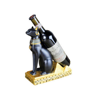 loomrack Egyptian Feline Wine Rack Holder Wine Racks