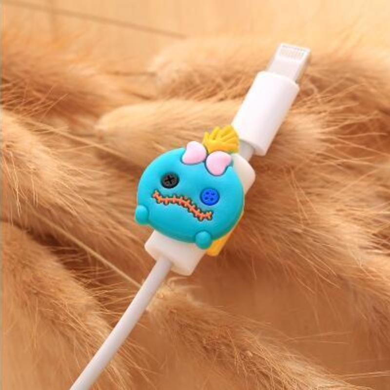 loomrack Fancy Cable Charger Protector Mobile Phone Accessories Light Blue