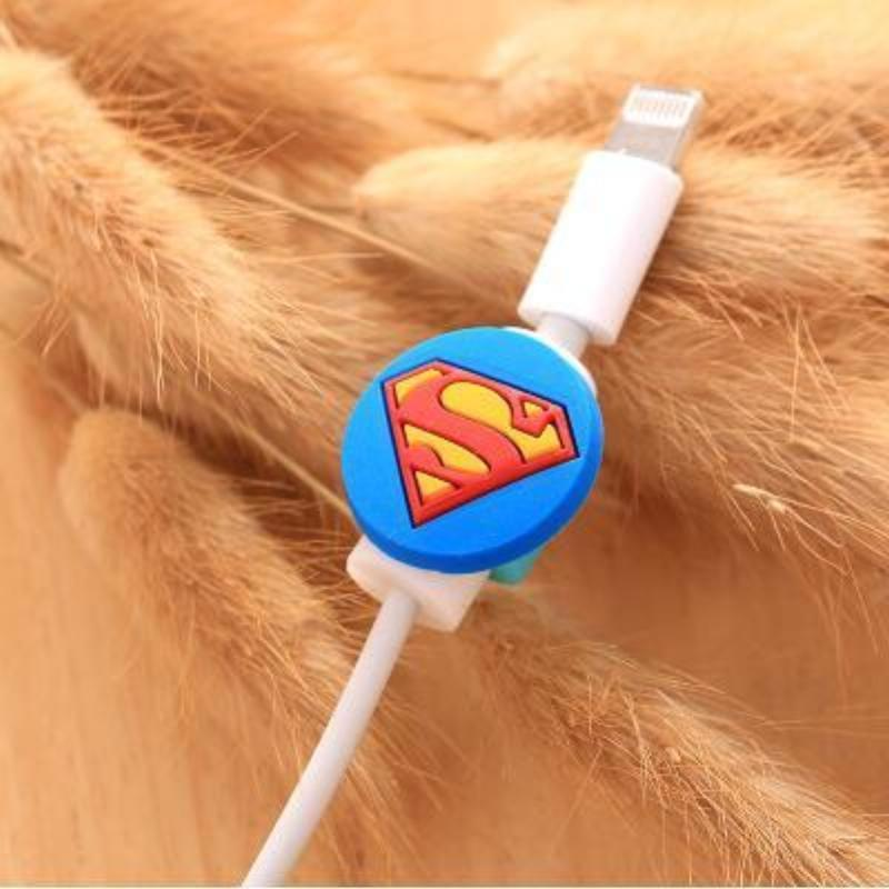 loomrack Fancy Cable Charger Protector Mobile Phone Accessories SuperMan