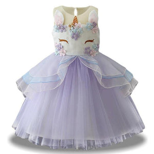 loomrack Fancy Unicorn Dress Dresses Purple / 3T