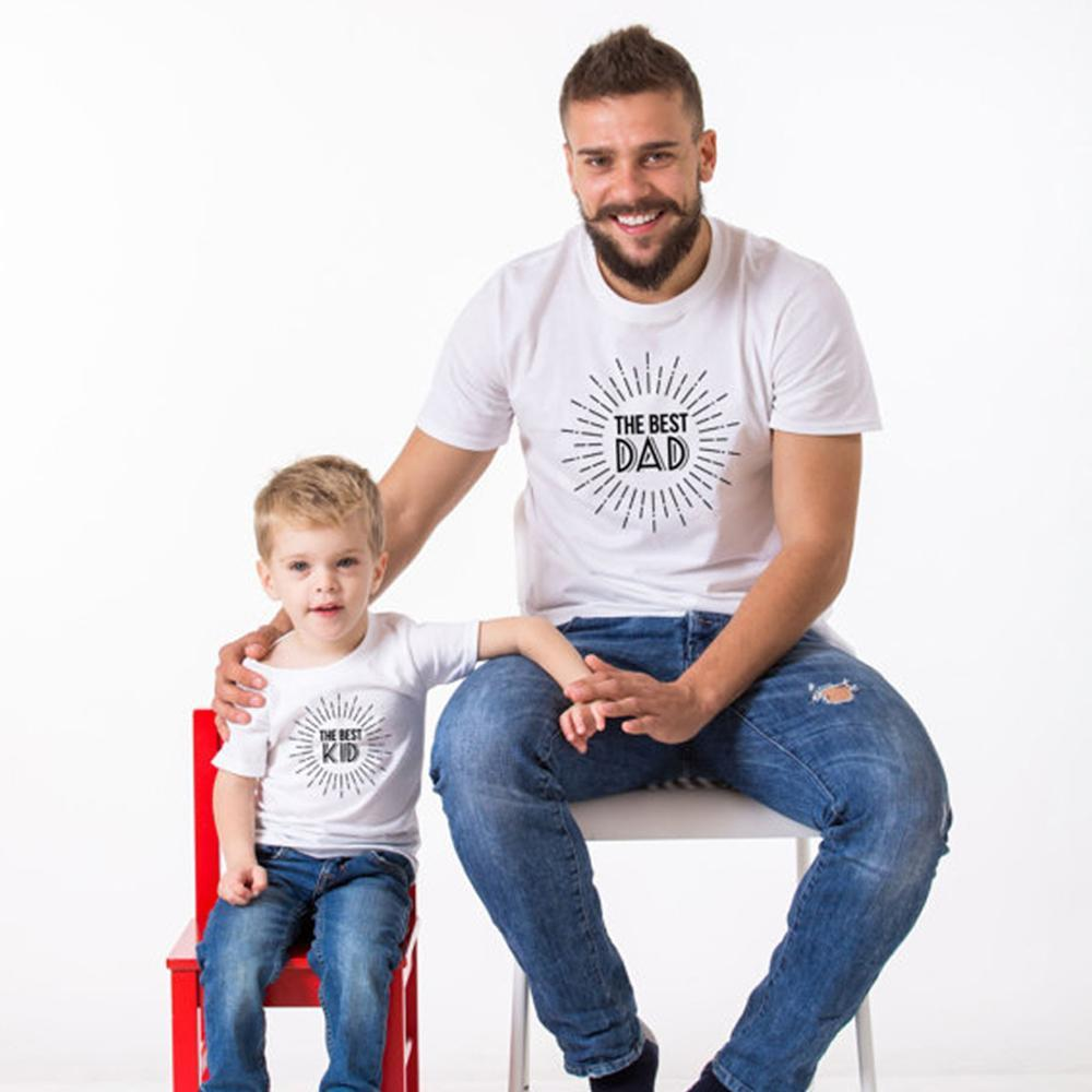 loomrack Father/Son Matching Tees Family Matching Outfits Best Dad/Best Kid / Dad M