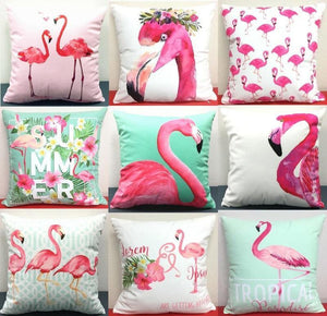 loomrack Flamingo Pillow Covers Cushion Cover