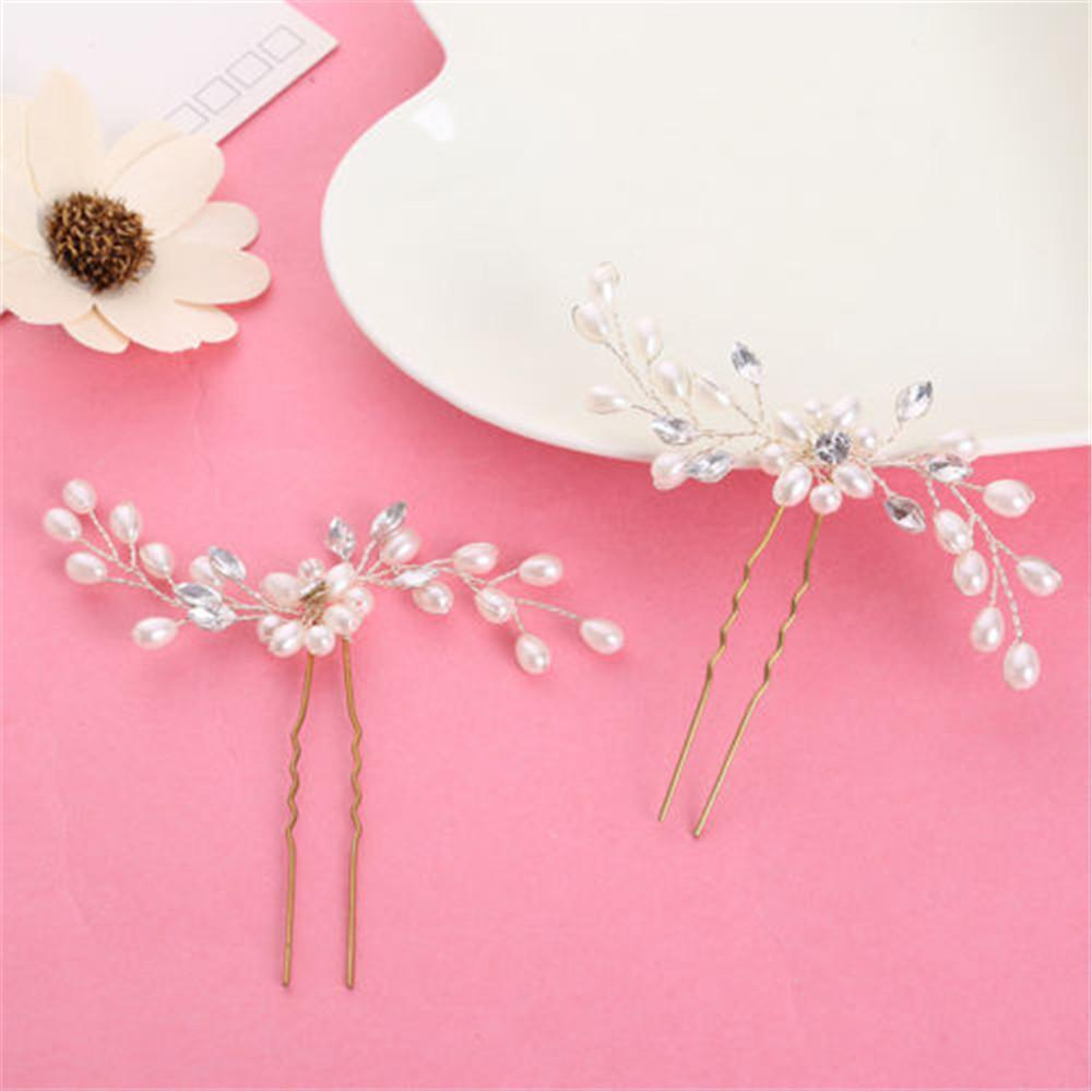 loomrack Flower Pearl Bridal Hair Accessory Hair Jewelry