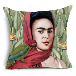 loomrack Frida Kahlo Cushion Cover Home Accessories 43X43CM / Cushion Cover - 1