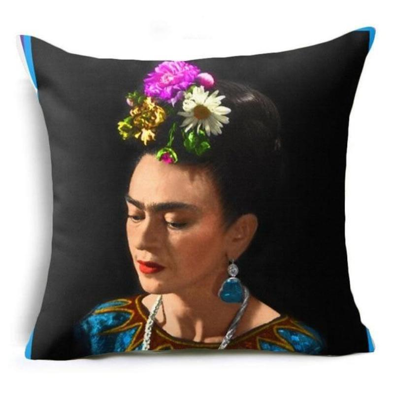 loomrack Frida Kahlo Cushion Cover Home Accessories 43X43CM / Cushion Cover - 11