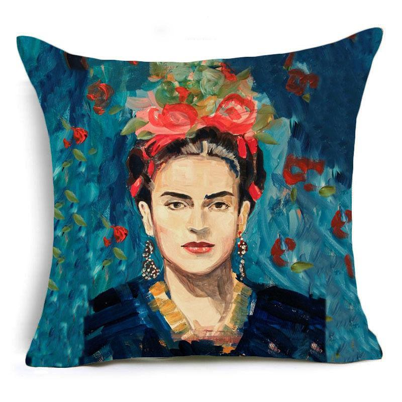 loomrack Frida Kahlo Cushion Cover Home Accessories 43X43CM / Cushion Cover - 16