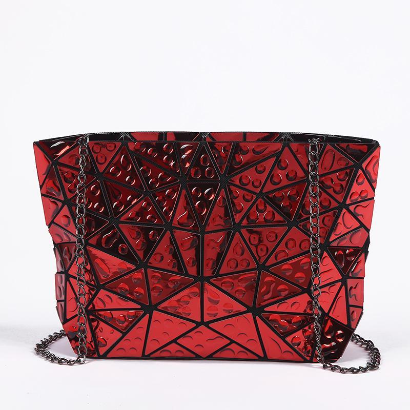 loomrack Geometric Foldable Shoulder Bag Cross Body Bags Red