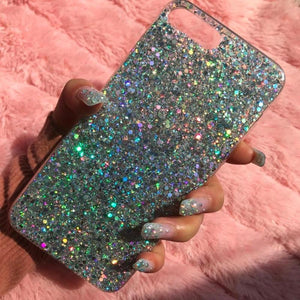 loomrack Glitter Crystal Sequins iPhone Cover Phone Cases