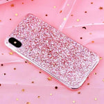 loomrack Glitter Crystal Sequins iPhone Cover Phone Cases Pink / i6-i6S(4.7inch)