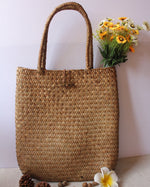 loomrack Hand Woven Straw Tote Bag Top-Handle Bags