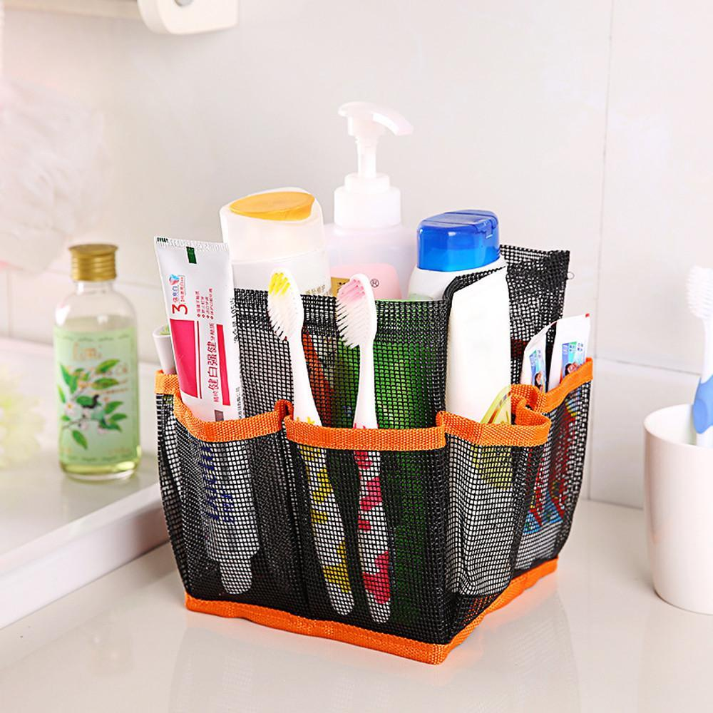 loomrack Hanging Mesh Toiletry Caddy Organizer Home Accessories Orange