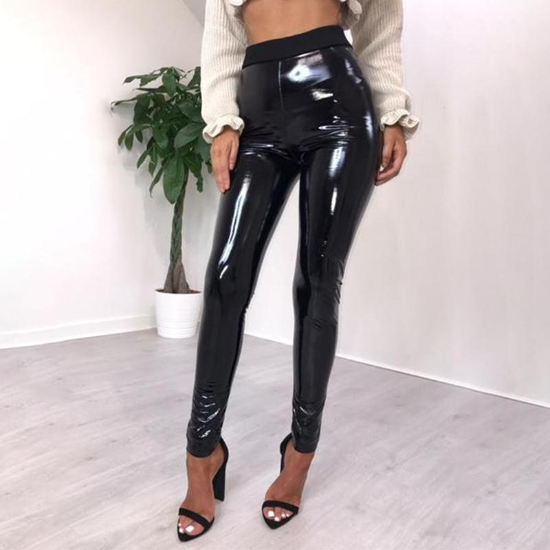 loomrack High Waisted PVC Pants Leggings