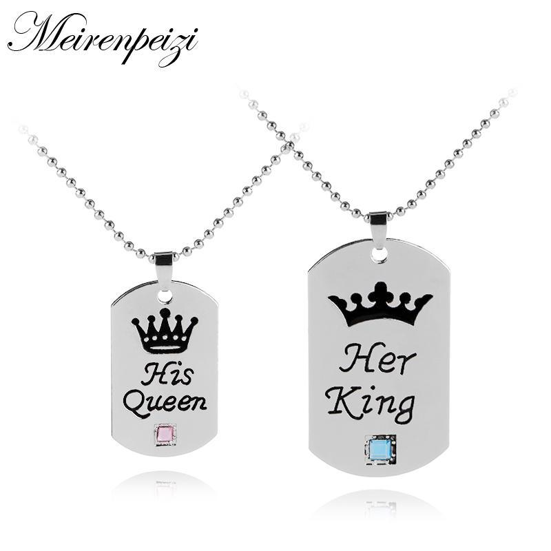 loomrack His Queen Her King Tag Necklaces Necklace